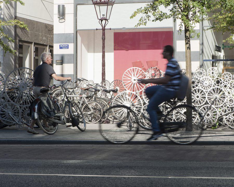 Bicycloud Fence Rokin Amsterdam Fietsenstalling Bicycle Fence Hek