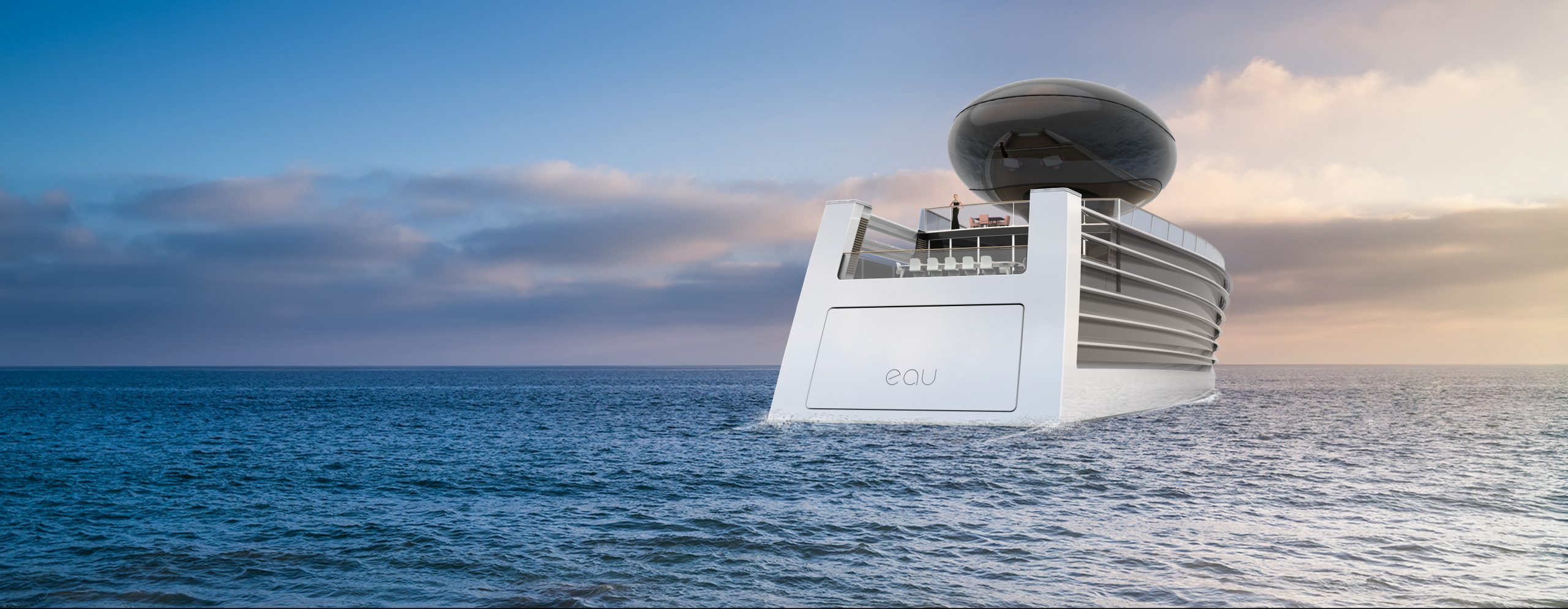 Eau electric super yacht Feadship Oceanco Studio Tjep Philippe Starck