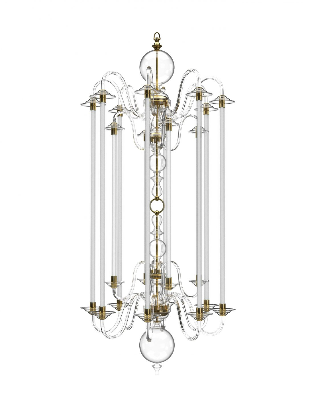 Preciosa Echo Chandelier Dutch Classic Glass Crafts Czech republic Tjep Studio